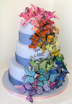 Butterfly Layered Cake