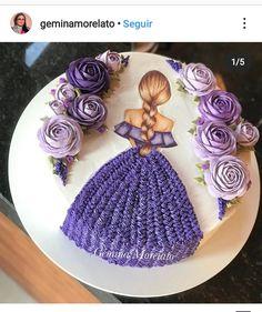 Bithday Cake, Cute Birthday Cakes, Barbie Birthday Cake, Birthday Diy, Princess Birthday, Girl Birthday, Pretty Cakes, Beautiful Cakes, Amazing Cakes