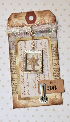 S Tags- Framed Snowflake
