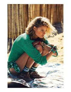 Tomboy Surfer Girl Editorials - The Vogue Paris July 2012 Frackowiak Photoshoot is Raw and Masculine (GALLERY)