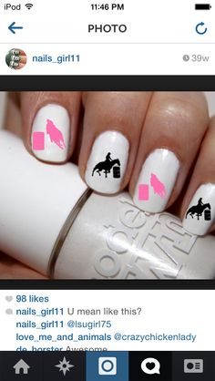 - Fitness and Exercises, Outdoor Sport and Winter Sport Rodeo Nails, Horse Nails, Home Design, Diy Nails, Cute Nails, Racing Nails, Country Nails, Horse Treats, Girls Nails