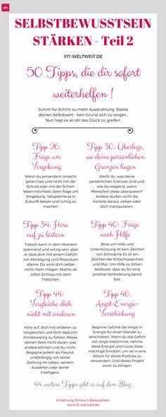 Ein starkes Selbstbewusstsein aufbauen: 50 Tipps – Teil 2 (Tipp 26-50)