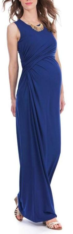 Seraphine Lexington Maxi Dress Ultra-soft stretch viscose Discreet lift up nursing Flattering side ruching Empire detailing Maxi length A day to night winner, the Ink Blue Maternity & Nursing Maxi Dress will make an elegantly versatile addition to your summer wardrobe. Made in the softest stretch viscose, and stylishly ruched to one side, it's designed to drape beautifully over your curves, providing a flattering fit throughout pregnancy and beyond. After the baby is born, #ad