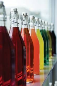 Nature is able to provide nice and bright shades of purple, red, orange, and yellow needed to color drinks