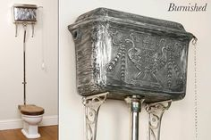 victorian  high   flush   Toilets and cisterns - High level cisterns - burnished decorated ...