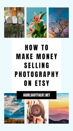 How to make money selling digital photography on Etsy. This is the first way I started selling digital products on Etsy as a side hustle for passive income.