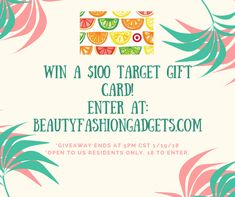 Win a $100 Target Gift Card! Head to BeautyFashionGadgets.com to enter. Ends 1/19/18 #giveaway #freebies #style #fashion #sweepstakes #rafflecopter