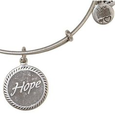 Alex and Ani Hope Expandable Wire Bangle Russian Silver