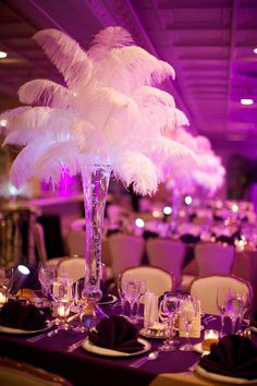 Ostrich Feather Centerpieces 3