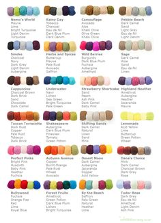 Great color schemes for quilts and knitting. Extra Fine Mohair | Be Sweet: Creative products with a conscience