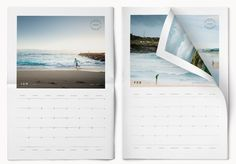 2018 Printable Photo Calendar - Adobe Indesign Template and pdf