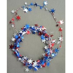 Star Wire Garland RedWhiteBlue  12 >>> For more information, visit image link.