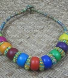 Elegant Elements - Multicolored Round Beads Necklace