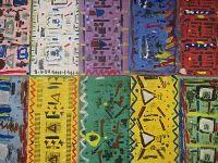 African Kente Cloth Collographs
