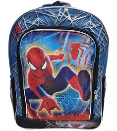 Disney Store SpiderMan Bag School Boys Backpack with 3D Eyes on the front NWT