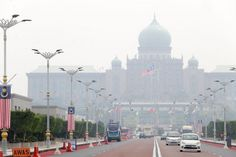 The Perdana Putra building is pictured shrouded in haze in Putrajaya Aug 16…