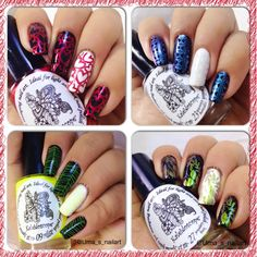 El Corazon Stamping Polishes Swatches And Review..