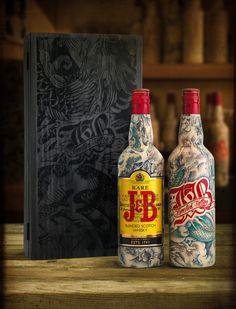 J&B limited tattooed bottle edition 2