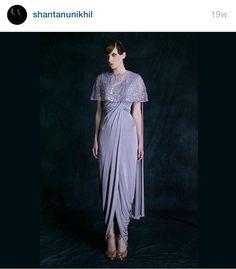 Love the color, the bottom drape, everything Designer: Shantanu & Nikhil
