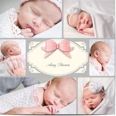 Baby girl birth announcement cards $1.19 www.mamadoo.com.au #mamadoo #personalisedcards #birthannouncement