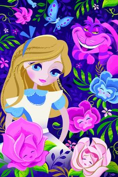 Disney WonderGround Beautifully Alice LE Mini Giclee Signed by Jeff Granito Disney Fan Art, Disney Artwork, Disney Love, Walt Disney, Disney Magic, Disney Parks, Lewis Carroll, Disneyland, Disney And Dreamworks