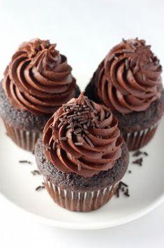 Кофейные капкейки с шоколадным кремом