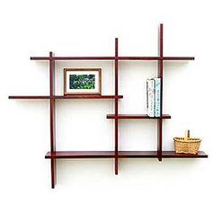 Multi-Tier Shelf - Birch is a multi-level knick-knack display shelf made from real birch wood in the U.S.A.