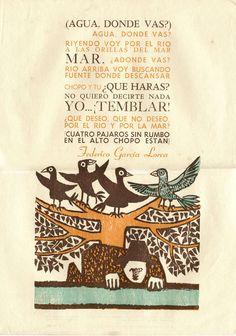 Typography Print by Leonilda González,  Poetry by Garcia Lorca