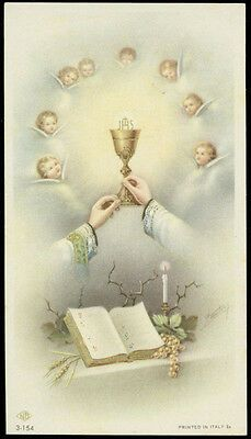 Sacramento, Vintage Holy Cards, Christmas Jesus, Catholic Prayers, Prayer Cards, Angels And Demons, Celestial, Priest, Communion