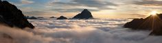 9 Stunning Photos of Beautiful Clouds – Bt images ☆ A panoramic view of the Pyrenees at sunset by Dean Searle.
