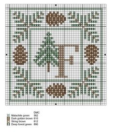 """Would be great to use the letter """"E"""" and hang at the cabin (front door or inside). Monogram Cross Stitch, Cross Stitch Alphabet, Simple Cross Stitch, Cross Stitch Flowers, Easy Cross, Cross Stitch Christmas Ornaments, Christmas Cross, Cross Stitching, Cross Stitch Embroidery"""