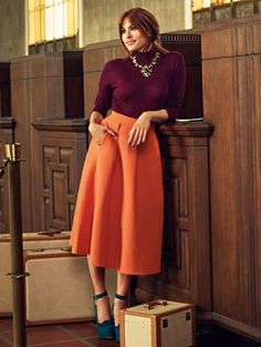 Shop Eva Mendes Collection - Clare Full Skirt . Find your perfect size online at the best price at New York & Company.
