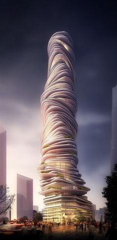 Urban Forest Tower, Chongqing, China by MAD Architects :: 85 floors, height 385m. QUE BUENO, UNA LOCURA.