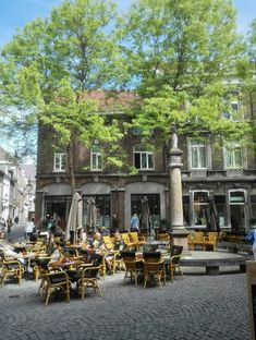Maastricht St Amorsplein by Sadetess Terrace Restaurant, Netherlands, Holland, Amsterdam, Dutch, Places To Go, Street View, City, Roots
