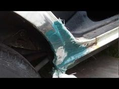 How to repair a large rusted out area on your vehicle - YouTube