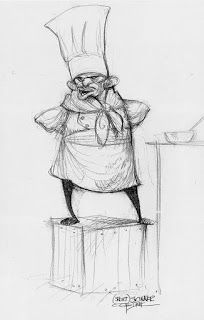 Character design by Carter Goodrich for the film 'Ratatouille . Character Design Animation, Character Design References, Character Drawing, Character Illustration, 3d Character, Illustration Art, Art Disney, Disney Concept Art, Disney Pixar