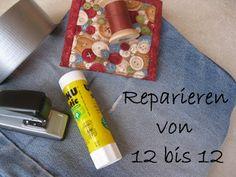 Valomea's Flickenkiste: Reparieren von 12 bis 12 - der August und September Denim Rug, Sewing Pants, Chenille, Blog, Quilts, Projects, September, Fast Crochet, Safety Pins