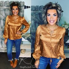 Rachel Clark, Something New, A Boutique, Happy Shopping, Short Hair Styles, Ruffle Blouse, Satin, Exceed, Long Sleeve