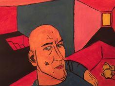 Self Portrait. #acrylic #acrylicpaintings #paintings #contemporaryart #art #modernart #artgallery #portrait #selfportrait
