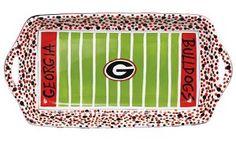 """16"""" x 8"""" University of Georgia Ceramic Stadium Platter"""