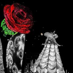 Offered Him A Single Rose#belle #beautyandthebeast #beauty #beast #disneyprincess #disney #princess #disneyland #disneyland60 #paintthenight #parade #electricparade #disneylandresort #dlr #disneylandcalifornia #anaheim #california #disneygram #instagram by abrokensmolder