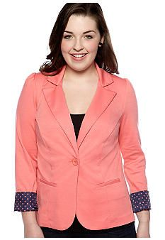 Free 2 Luv Plus Size Colored Knit Jacket