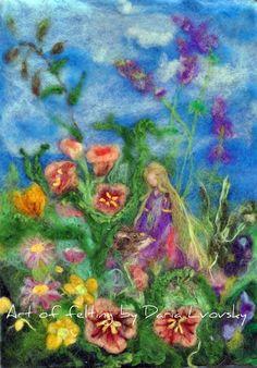 Fleurs de fée / Note de carte/Waldorf/aiguille par darialvovsky