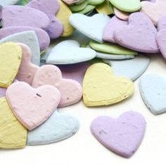Love these plantable paper hearts. They would make perfect favors.