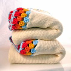 Ivory knitted blankets