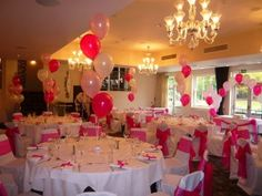 Balloon Decorations - Beautiful Flowers, Balloons & Chair Covers