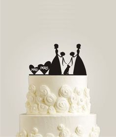 Lesbian wedding cake topper SameSex Photo by Sara Ryan Gay