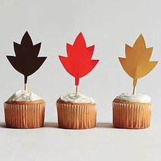 How cute are these to pop into a cupcake, cake or pie to add a little dash of fall color? #DIY #Fall #decor @RachelRayMag