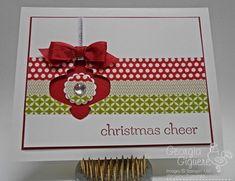 Washi Tape Christmas Card idea!  Learn how!
