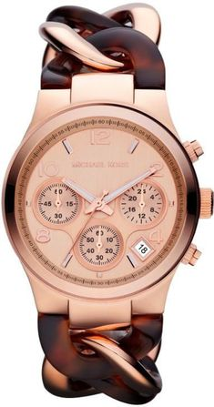 Michael Kors MK4269 Brown Rose Gold Analog Quartz Women s Watch 1f9133250b